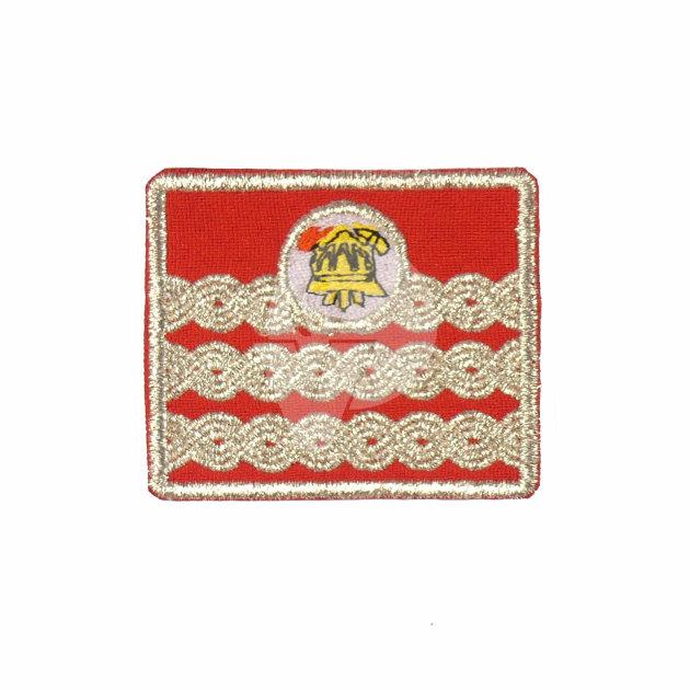 Vatrogasne oznake dužnosti za radno odijelo, Zapovjednik VZŽ
