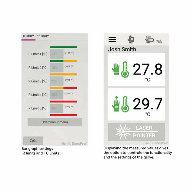 Mobile App for Holik SensPro Fire Gloves