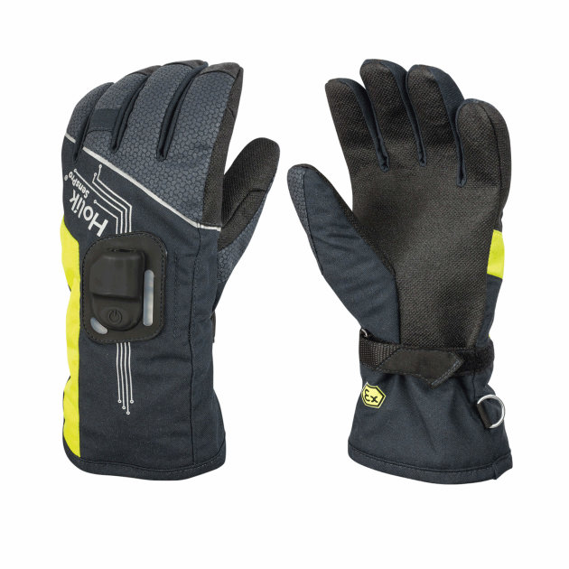 Firefighter Gloves SensPro, protective gloves for firefighters with electronics and sensors, textile with membrane
