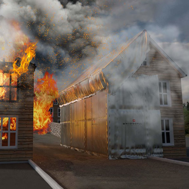Heat Block Fire Sails, protect buildings and property from radiant heat