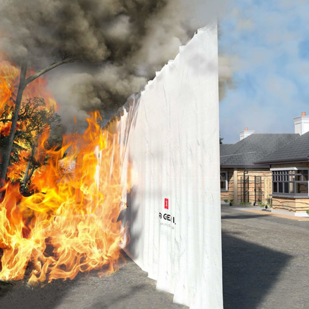 Inferno Block Fire Sails, protect buildings and property from radiant heat