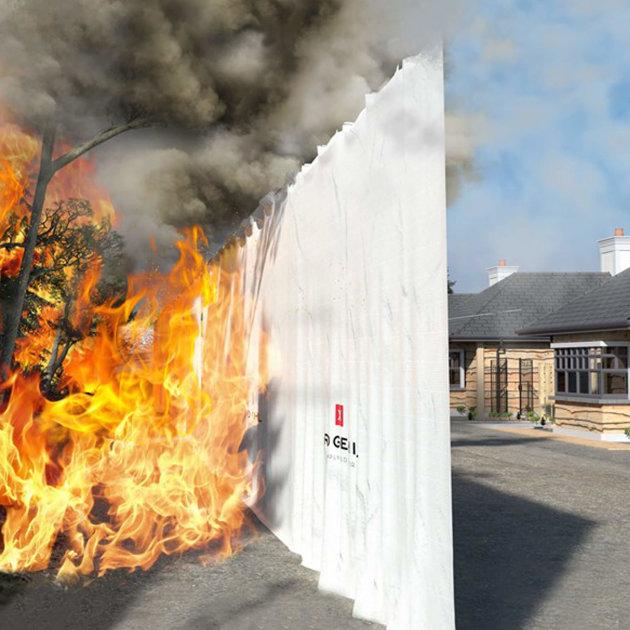 Protupožarni prekrivač Inferno Block, za zaštitu objekata od širenja vatre sa drugog objekta ili površine