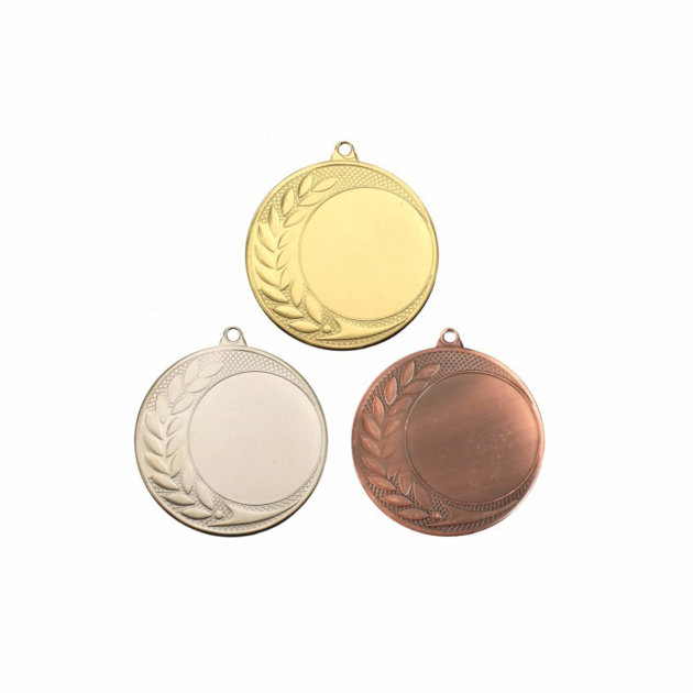 Medal Set for Fire and Sports Competitions, Gold, Silver and Bronze - 70 mm