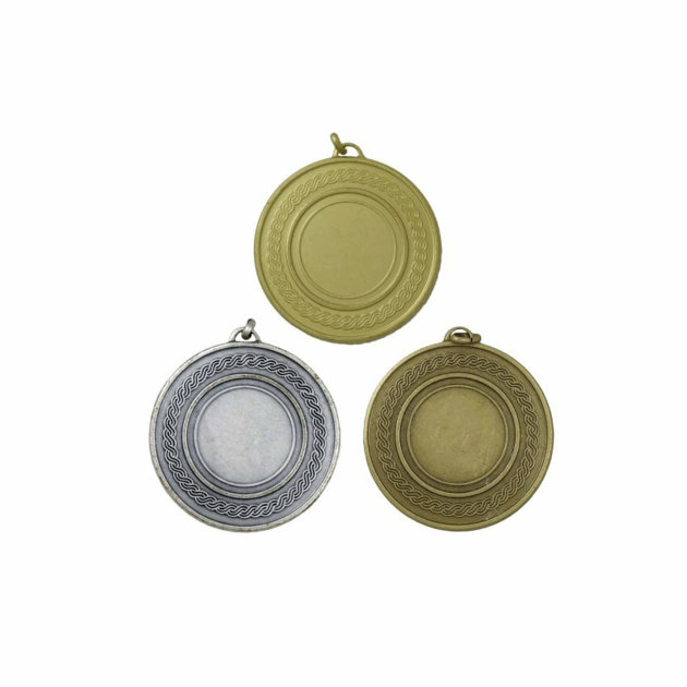 Medal Set for Fire and Sports Competitions, Gold, Silver and Bronze - 50 mm