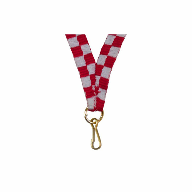 The medal ribbon is used to carry the medal around the neck