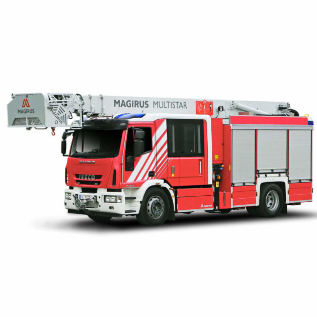 Firefighting Special Vehicle Magirus MultiStar, with rescue cage and tank pumper