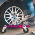 Gojak Vehicle Skates, Device for moving Illegally or improperly parked vehicles at fire interventions.