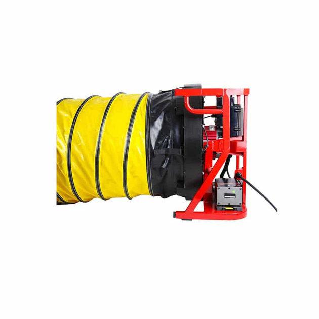 Rastezljivo crijevo/tunel za usisavanje i upuhivanje zraka uz pomoć Ramfan ventilatora/dimovuka