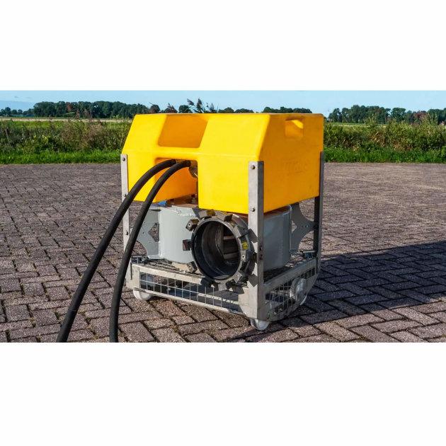Potopna pumpa koja se koristi za ispumpavanja poplavljenih područja, u kombinaciji sa Hytrans HydroSub jedinicom.