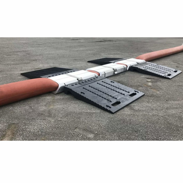 Hytrans Squeeze Ramp used for hose protection when under pressure and laid on the road.