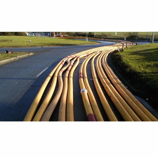 Cijevi za Hytrans sustav opskrbe vodom mogu se koristiti za dobavu vode tijekom intervencija na velikim požarima ili ispumpavanje vode sa poplavljenih područja.