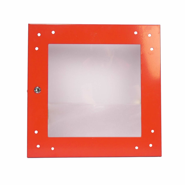 Door for wall hydrant cabinet type HO-2B, with glass and lock.