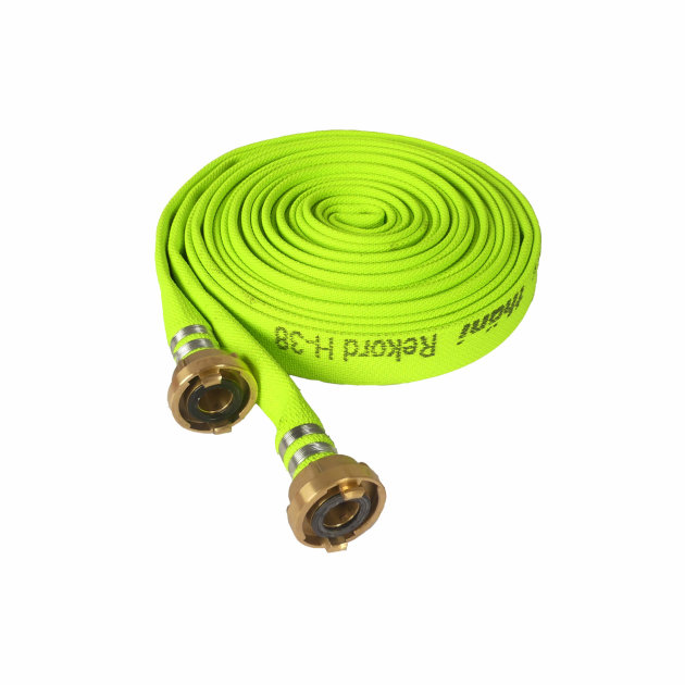 The fire hose fi 38 mm is a high-pressure hose for fire interventions. Storz couplings are made of brass, so that they can withstand higher water pressure.