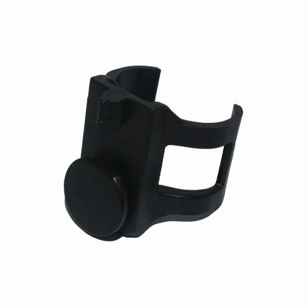 Flashlight holder is used to hold the flashlight on fire helmet and enables free hands to the Firefighter.